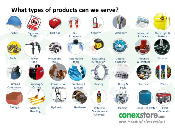 What types of products can we serve?