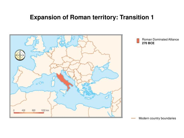 Expansion of Roman territory: Transition 1