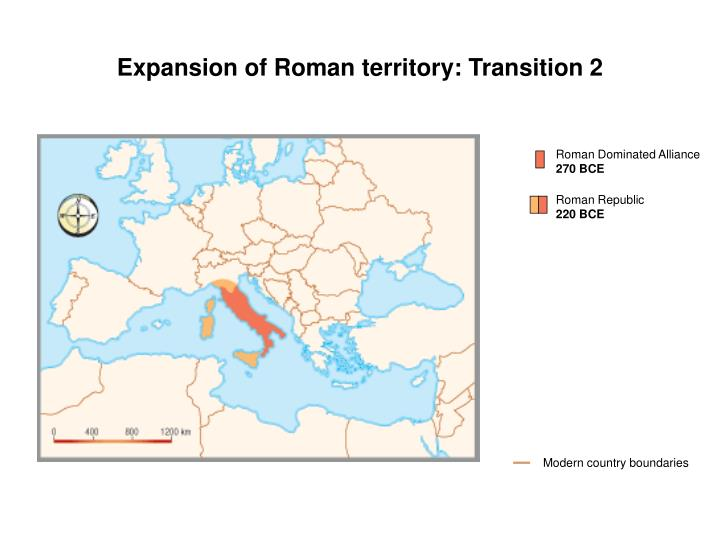 Expansion of Roman territory: Transition 2