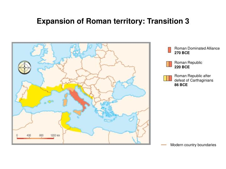 Expansion of Roman territory: Transition 3