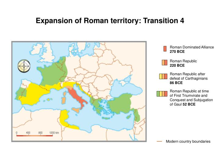 Expansion of Roman territory: Transition 4