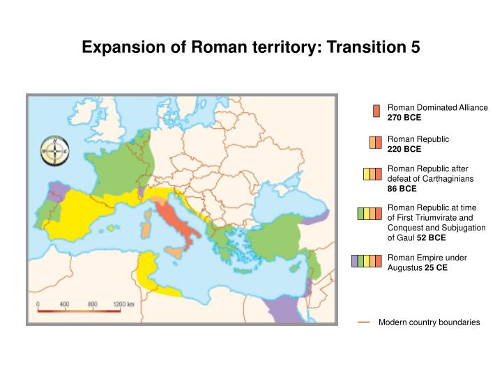 Expansion of Roman territory: Transition 5