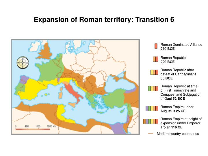 Expansion of Roman territory: Transition 6