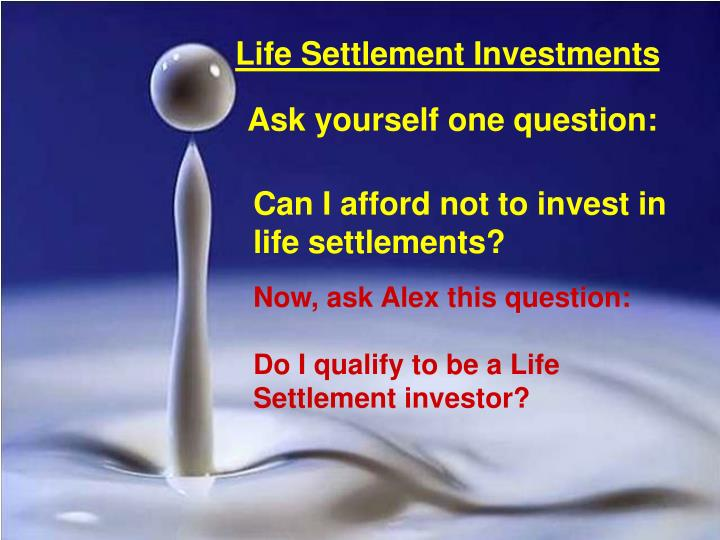 Life Settlement Investments