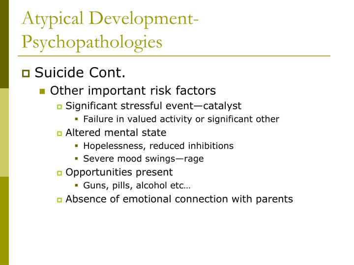 Atypical Development-Psychopathologies