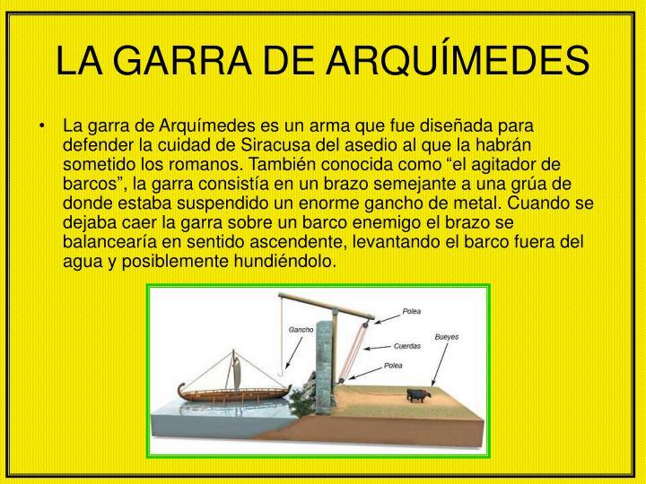 LA GARRA DE ARQUÍMEDES