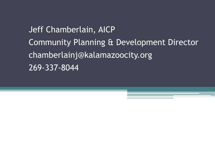 Jeff Chamberlain, AICP