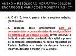 anexo resolu o normativa 396 2010 encargos e varia es monet rias ct1