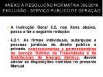 anexo resolu o normativa 396 2010 exclus o servi o p blico de gera o