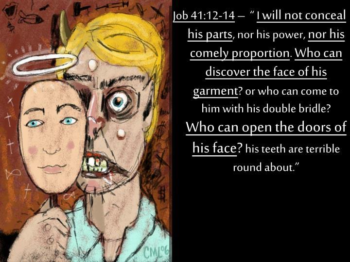 Job 41:12-14