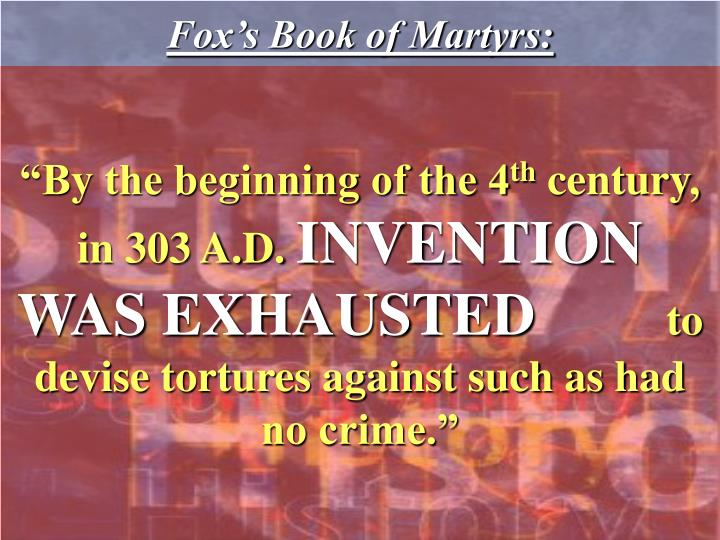 Fox's Book of Martyrs: