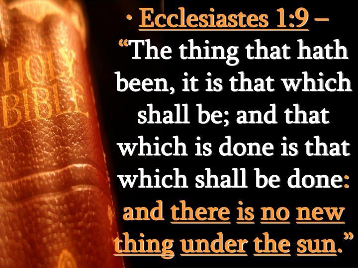 Ecclesiastes 1:9