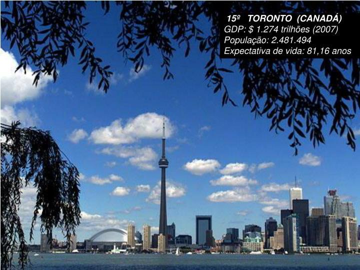 15º   TORONTO  (CANADÁ)