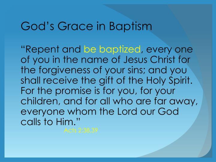 God's Grace in Baptism