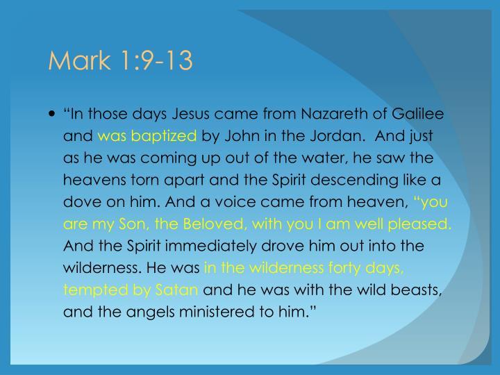 Mark 1:9-13