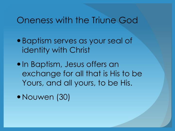 Oneness with the Triune God
