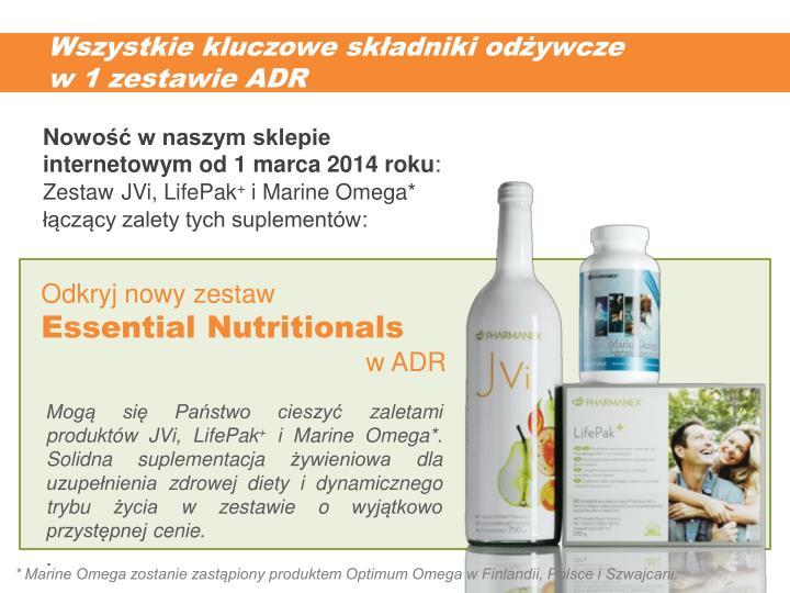 Wszystkie kluczowe składniki odżywcze