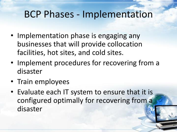 BCP Phases - Implementation