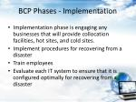 bcp phases implementation