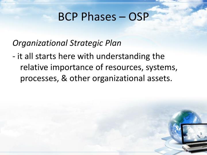 BCP Phases – OSP