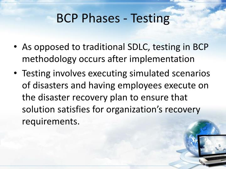 BCP Phases - Testing