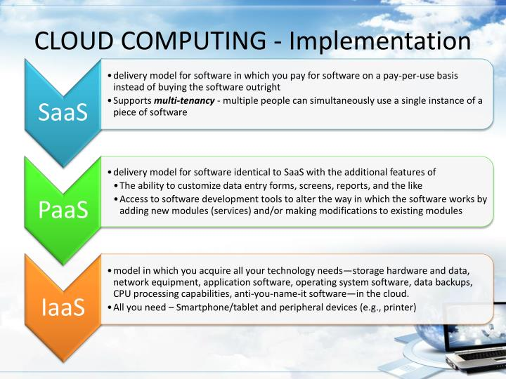 CLOUD COMPUTING - Implementation