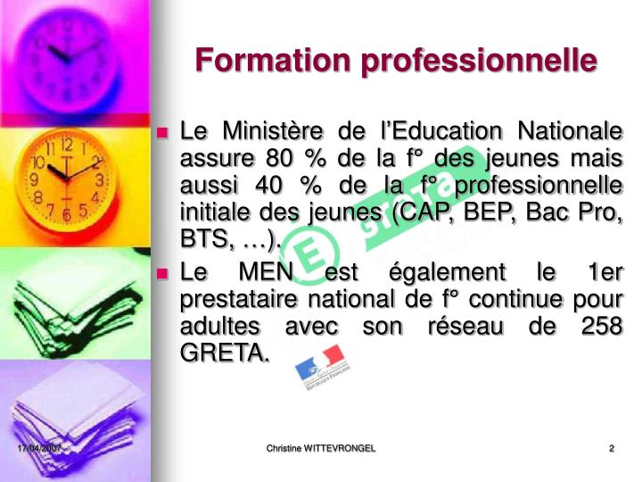 Formation professionnelle