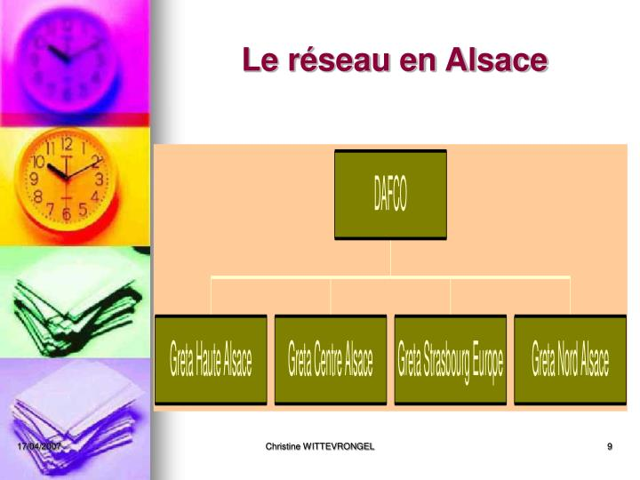 Le réseau en Alsace