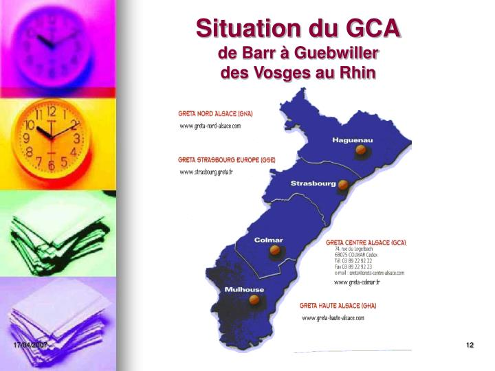 Situation du GCA
