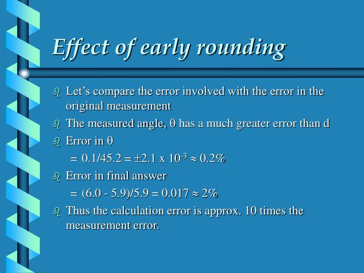 Effect of early rounding