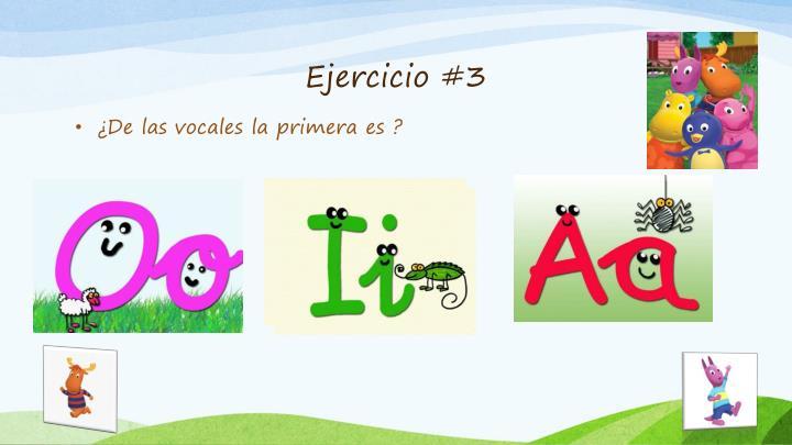 Ejercicio #3