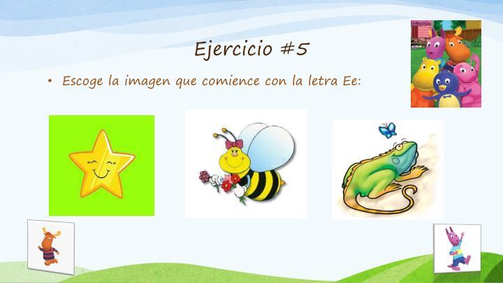 Ejercicio #5