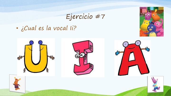 Ejercicio #7