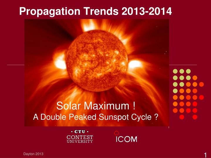Propagation trends 2013 2014
