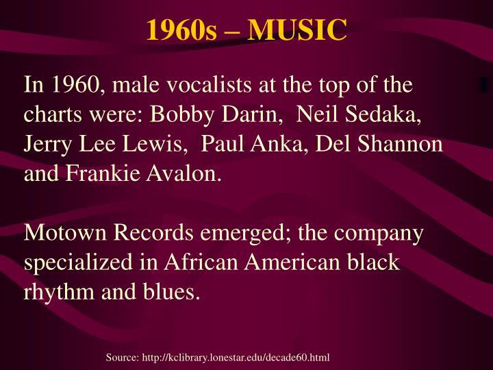 1960s – MUSIC