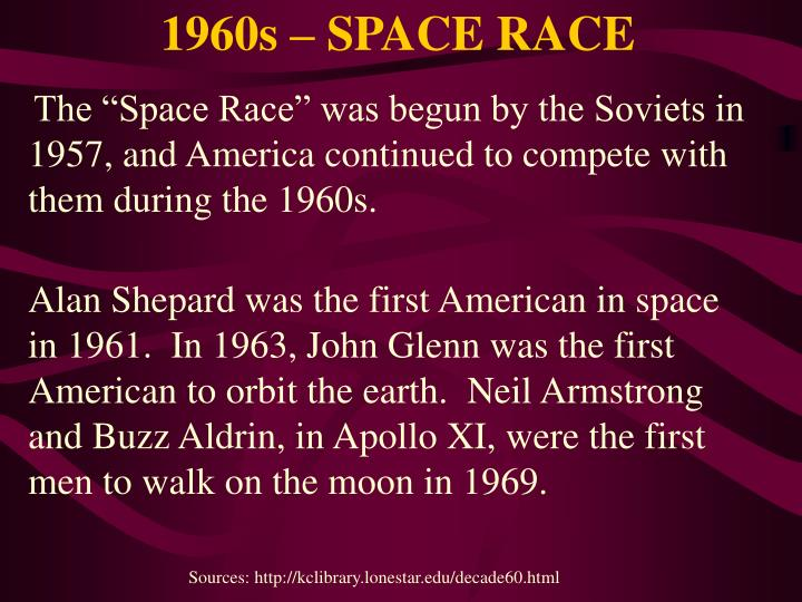 1960s – SPACE RACE