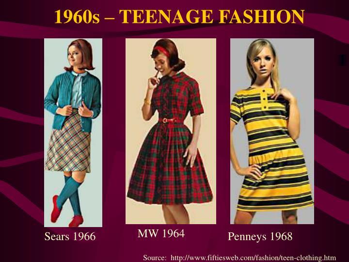 1960s – TEENAGE FASHION