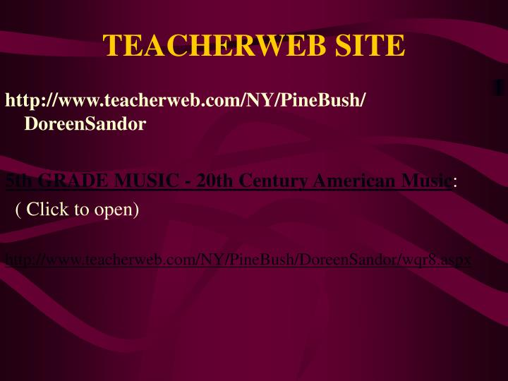 TEACHERWEB SITE