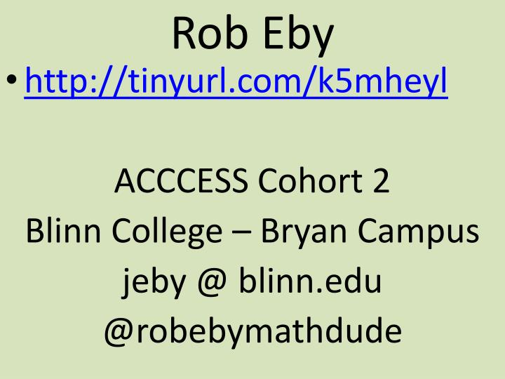 Rob Eby