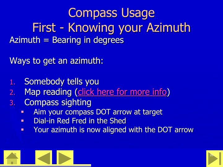 Compass Usage