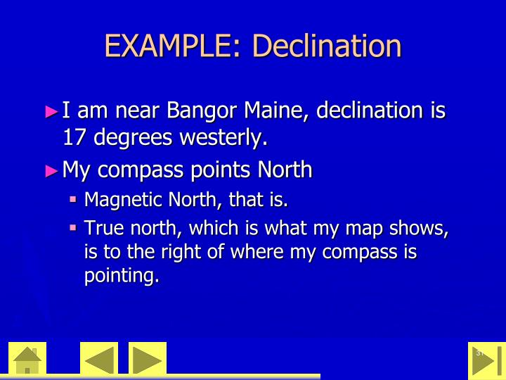 EXAMPLE: Declination