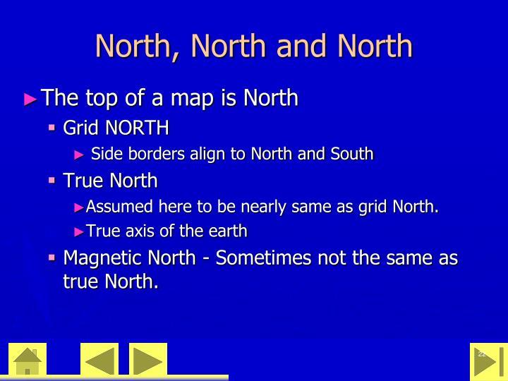 North, North and North