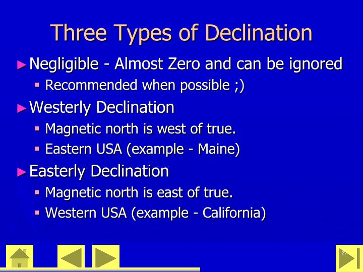 Three Types of Declination