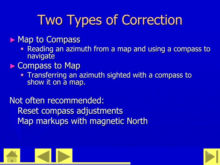 Two Types of Correction