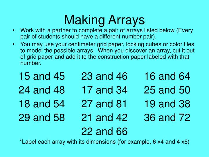 Making Arrays