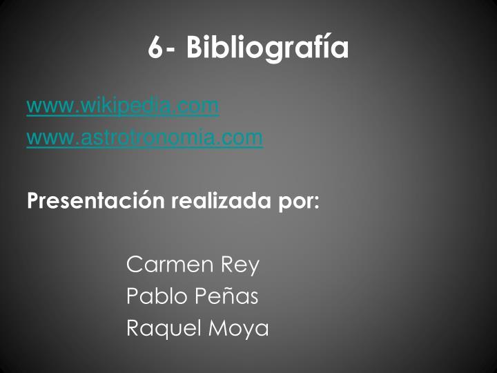 6- Bibliografía
