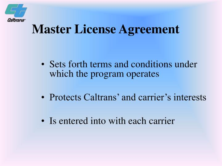 Master License Agreement