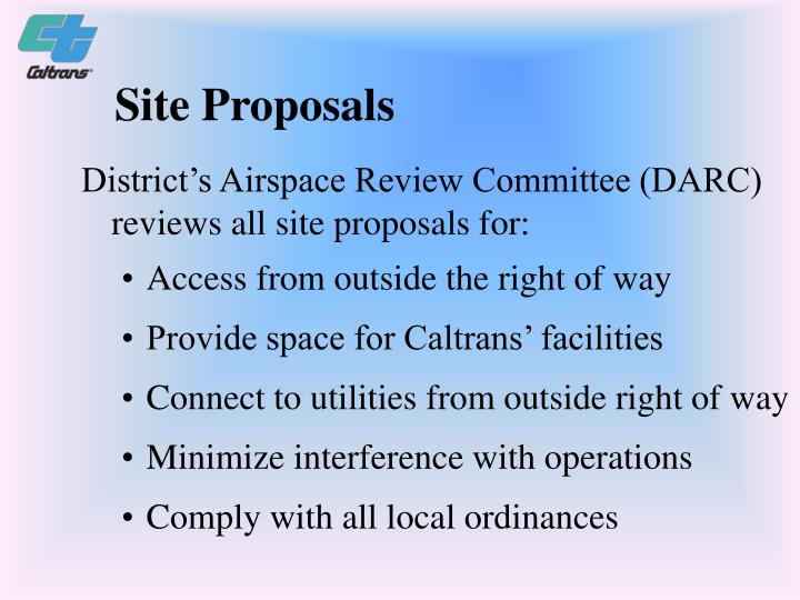 Site Proposals