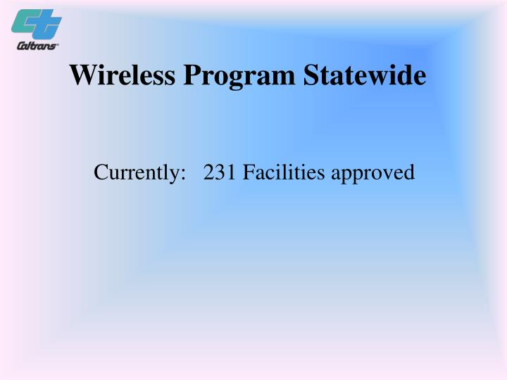 Wireless Program Statewide
