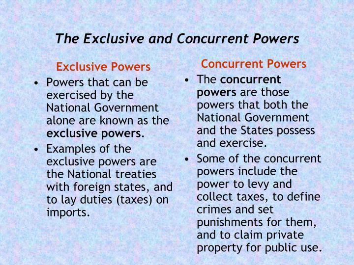 Exclusive Powers